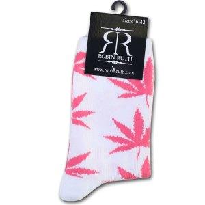 Wiet Sokken Dames Roze / Wit