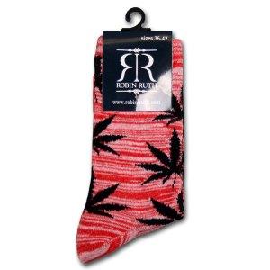 Wiet Sokken Dames Rood / Zwart
