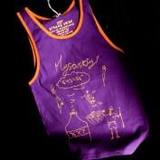 Дизайнерская майка-алкашка XXY. Фиолетовая.