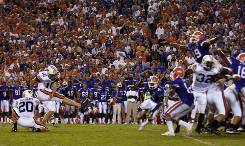 Wes Byrum beats Florida with a last-second kick-- TWICE!