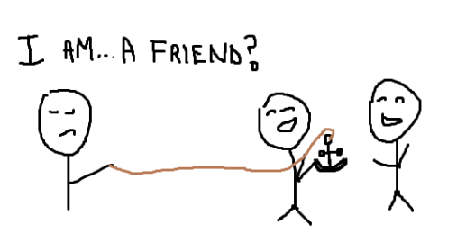 friendship, identity crisis