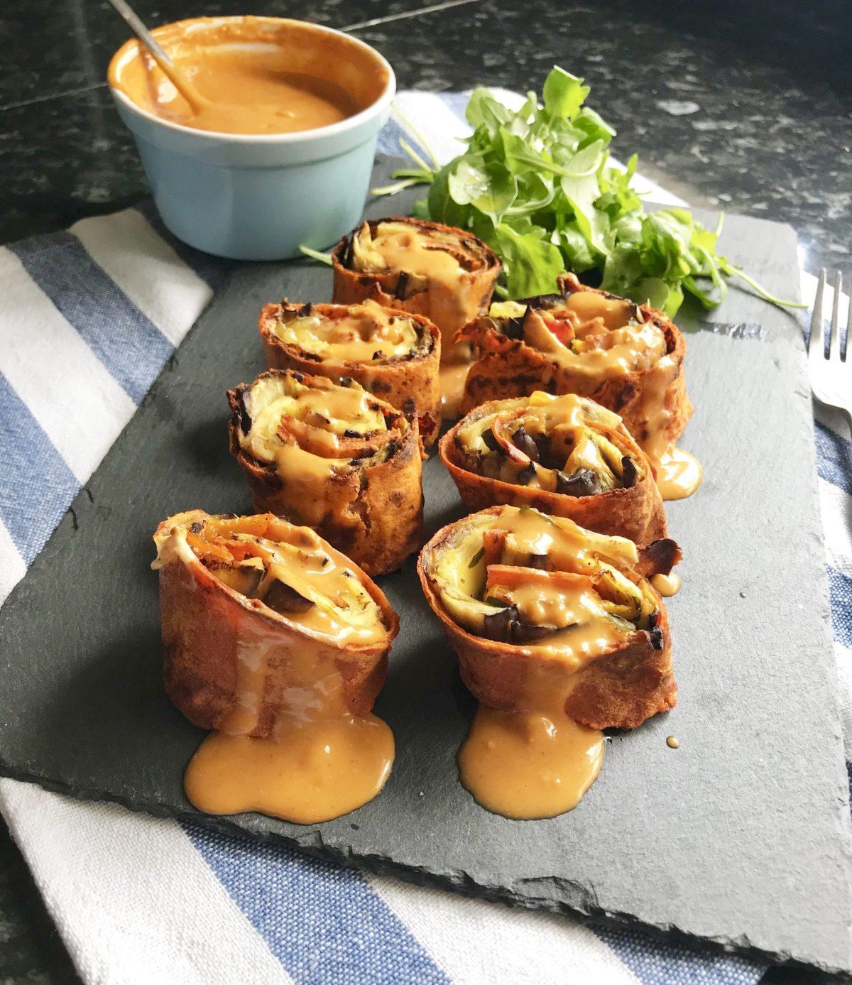Unique Mediterranean Vegan Roulade