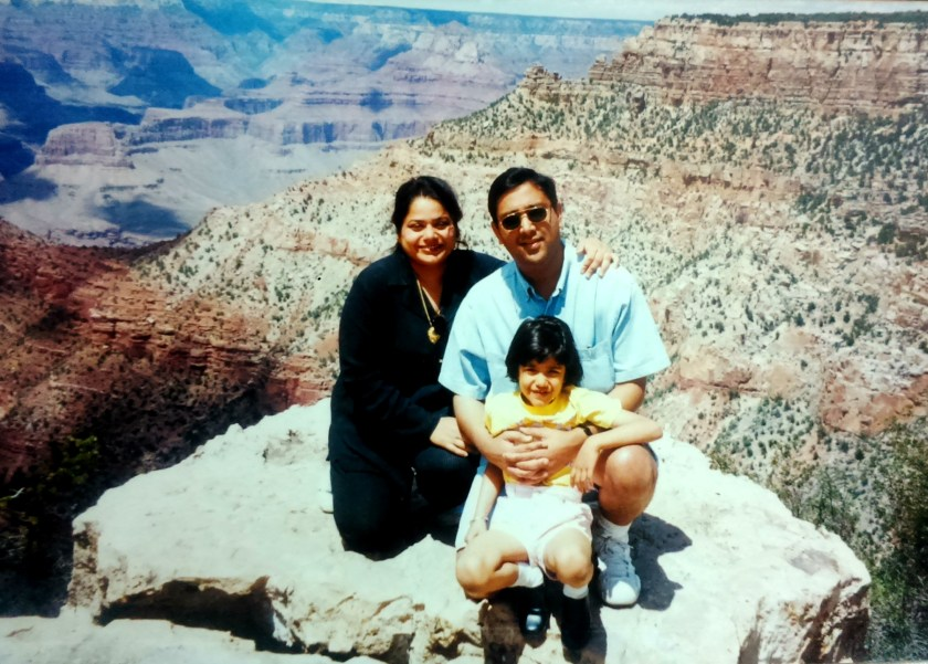vasundhra, family, childhood, grand canyon, inner child,