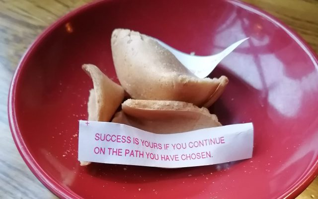 fortune cookie, the universe has your back, healing, faith, hope, destiny, higher calling