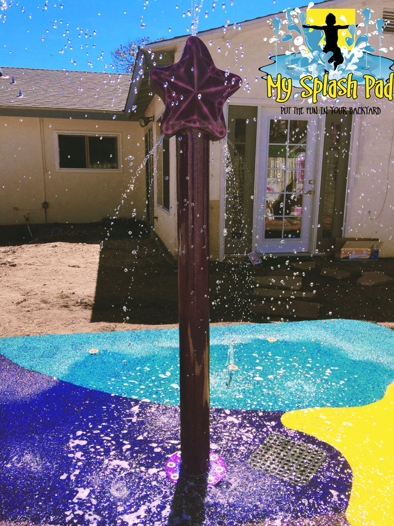Backyard Splash Pad For The Make A Wish Foundation Commercial Splash Pad Installer