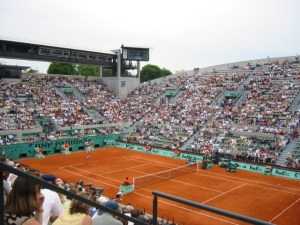 Court Suzanne Lenglen, one of the stadium courts at the Stade Roland Garros and host of the French Open