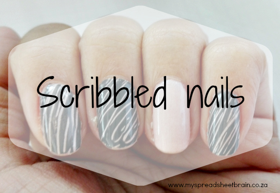 Scribbled nails