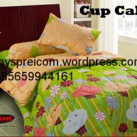 My Love Single Bedcover - Cup Cake