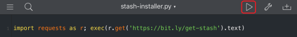 StaSh is installed by executing a downloaded script.