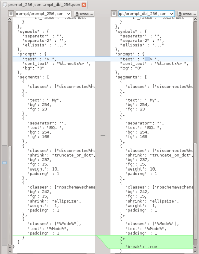 The difference between the prompt_256.json and prompt_dbl_256.json templates.