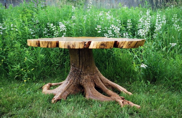 tree trunk table base