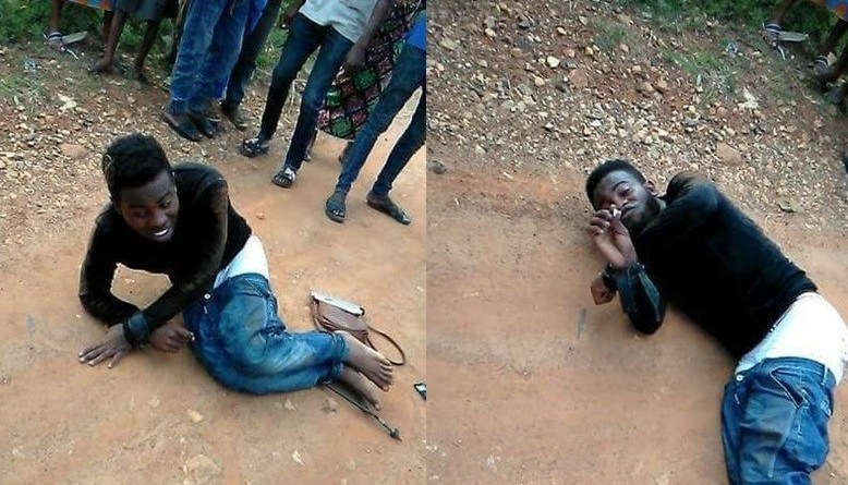 Breaking: EKSU Student Runs Mad After Alighting From Bus