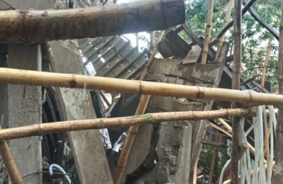 BREAKING: 60 escape death as hotel collapses in Ebonyi