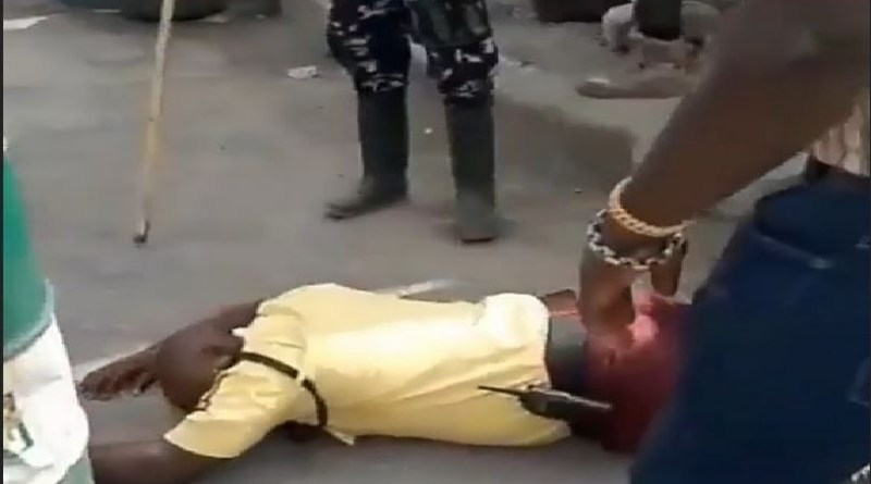 Police Officer Beat Up LASTMA Officer To Coma
