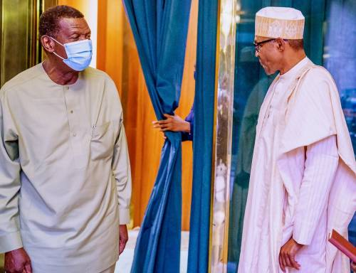 The General Overseer of the Redeemed Christain Church of God, Pastor E. A Adeboye met with President Buhari