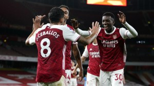 All love' for Nketiah and Ceballos after winner following Fulham bust-up