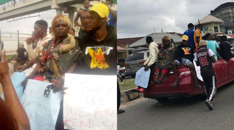 End SARS: Protesters storm Abeokuta with charms [PHOTOS]
