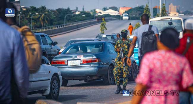 Soldiers Block Scene Of Planned #EndSARS Protest In Abuja (Photos)