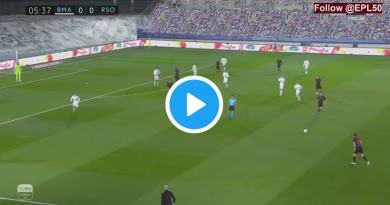 LIVE: Real Madrid vs Real Sociedad Live Streaming