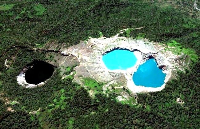 The three Lakes of Mount Kelimutu, Indonesia