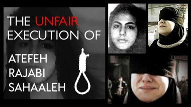 The tragic story of 16-year-old Iranian girlAtefeh Sahaaleh – An unfair execution! 6