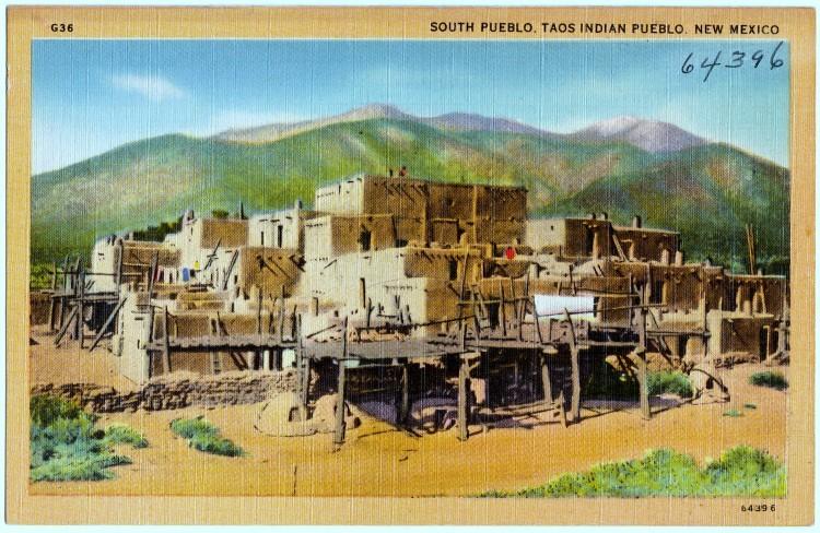 South Pueblo, Taos Indian Pueblo. New Mexico