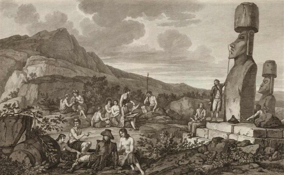 Το 1722 όταν, την Κυριακή του Πάσχα, ο Ολλανδός Jacob Roggeveen ανακάλυψε το νησί. Ήταν ο πρώτος Ευρωπαίος που ανακάλυψε αυτό το αινιγματικό νησί. Ο Ρότζεβεν και το πλήρωμά του υπολόγισαν ότι υπήρχαν 2,000 έως 3,000 κάτοικοι στο νησί. Προφανώς, οι εξερευνητές ανέφεραν ολοένα και λιγότερους κατοίκους με την πάροδο των ετών, έως ότου τελικά, ο πληθυσμός μειώθηκε σε λιγότερους από 100 μέσα σε μερικές δεκαετίες. Τώρα, εκτιμάται ότι ο πληθυσμός του νησιού ήταν περίπου 12,000 στην κορυφή του.