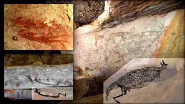 Ζωγραφική καγκουρό 17,300 ετών