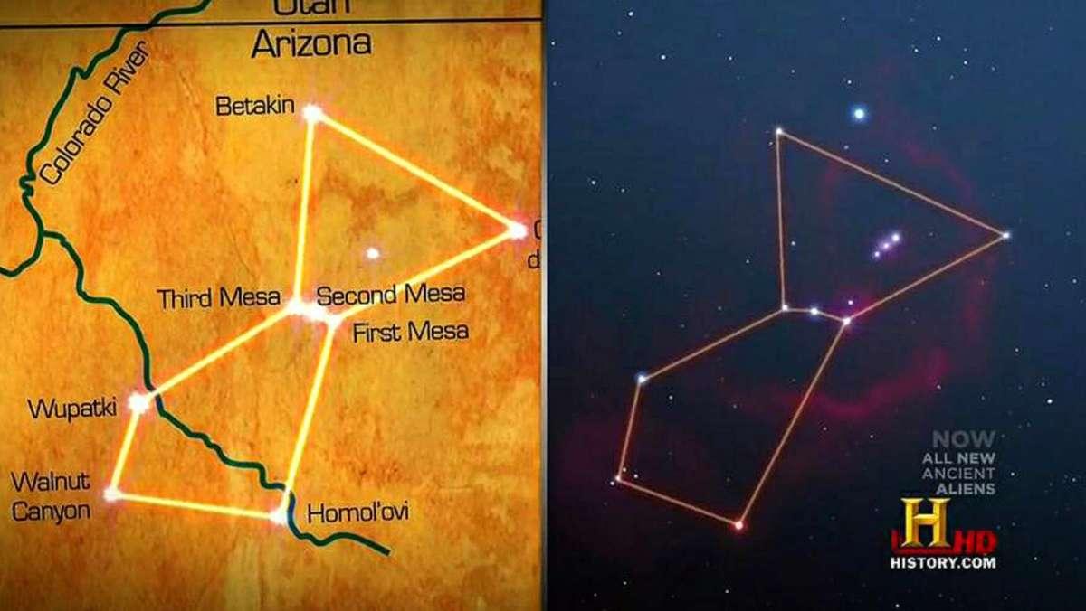 Τα τρία Χόπη Μέσα ευθυγραμμίζονται «τέλεια» με τον αστερισμό του Ωρίωνα