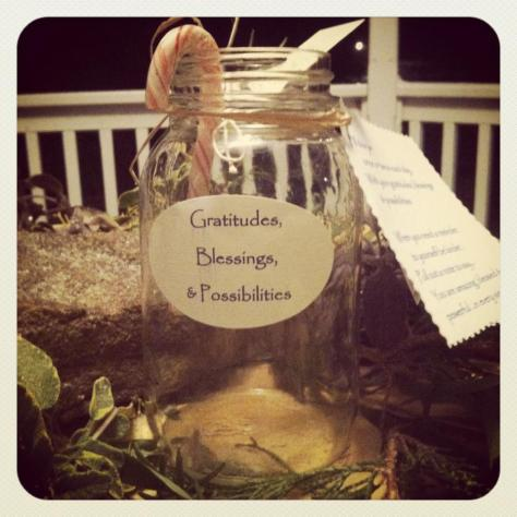 Example of a Gratitude Jar. Image: Cathy Colangelo, Clarity Coach