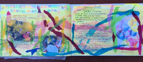 A view of the Gratitude Art Journal double page layout.