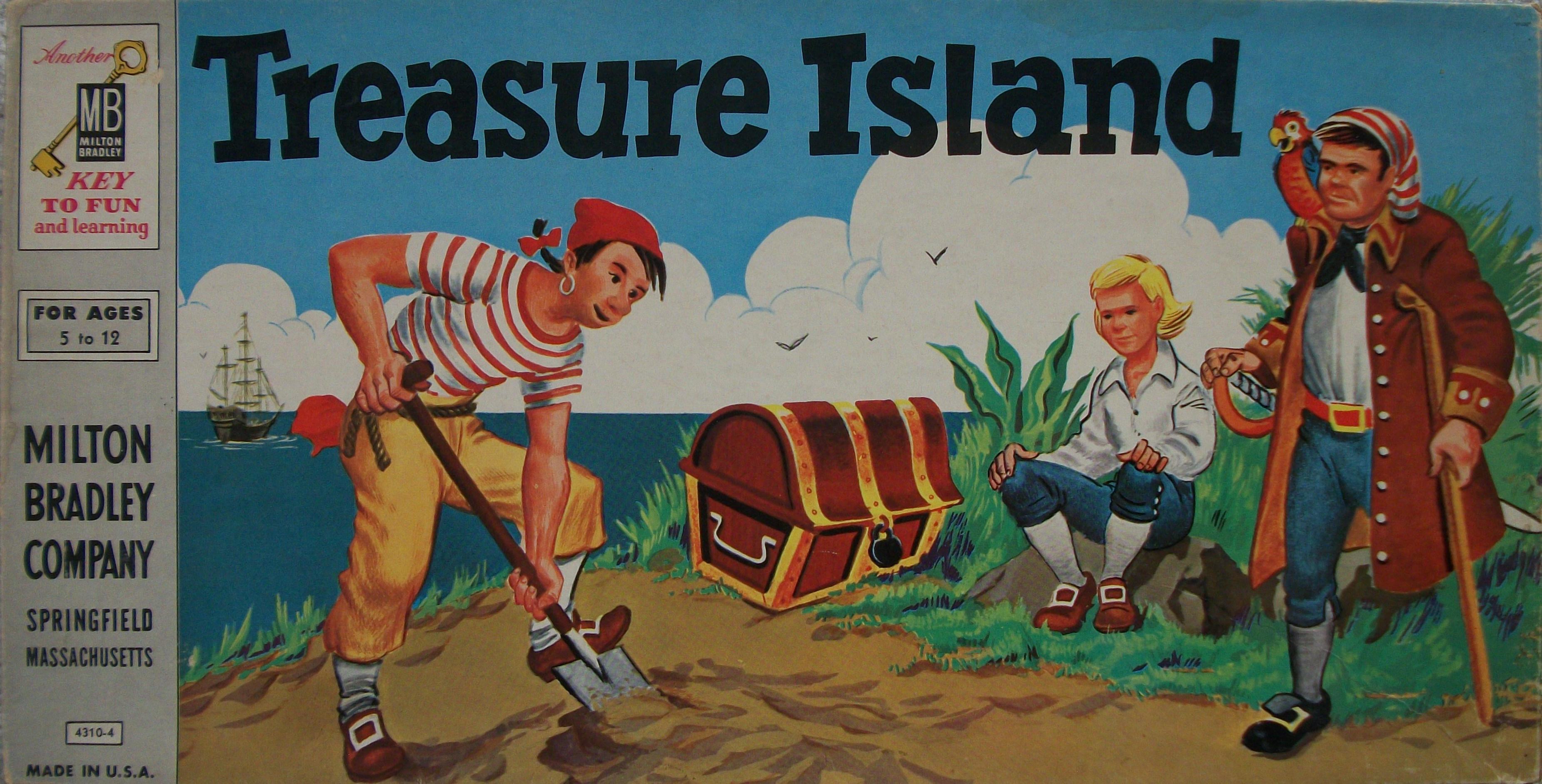 Milton Bradley S Old Board Game Of Treasure Island