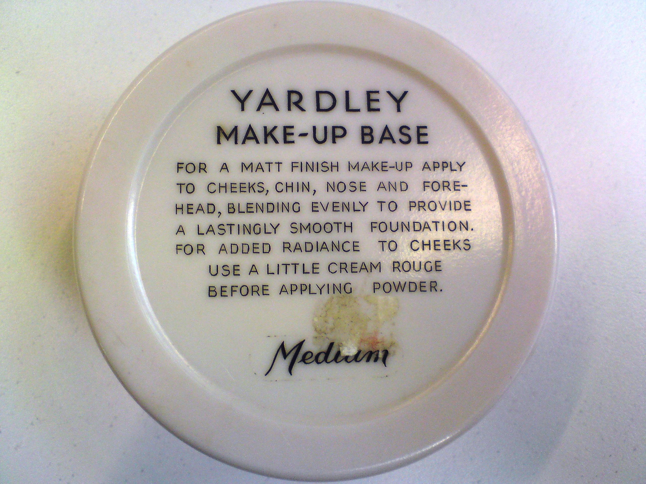 yardely vintage makeup label