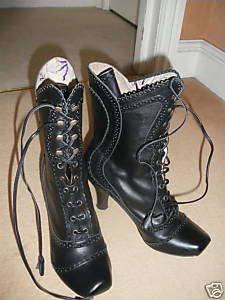 Irregular choice black lace up boots - Perfect winter fayre!