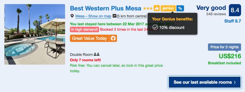 booking.com review