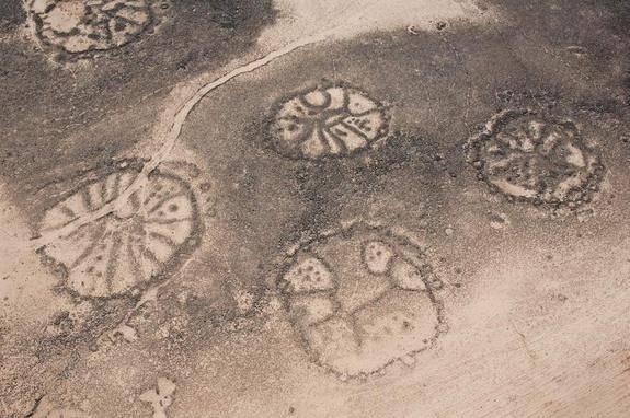 Geoglifos Kazajistán: Círculos.