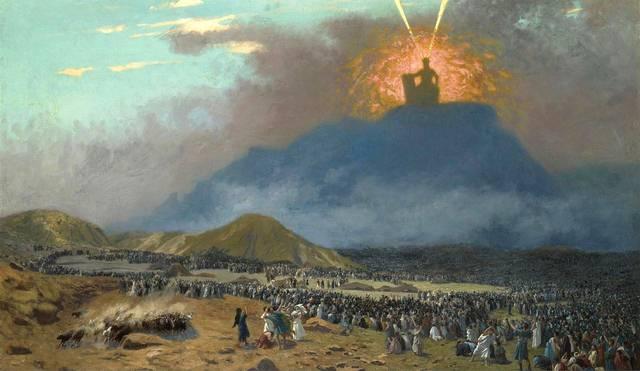 Moisés en el Monte Sinaí. Óleo de Jean-Léon Gérôme, c. 1895.