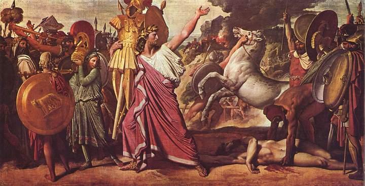 Rómulo, conquistador de Acron. Dominique Ingres, 1812.