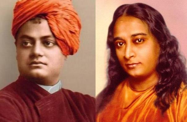 Swami Vivekananda (izquierda) ya describió el Akasha en 'Raja Yoga'. Paramahansa Yogananda (derecha) se refirió a este concepto como «fondo sutil».