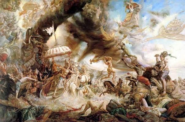 Los antiguos textos hindúes están llenos de referencias a naves voladoras y poderosas armas destructivas utilizadas por los dioses en batalla.