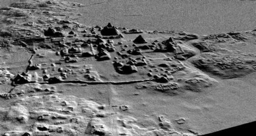 Fotografía cedida por Proyecto Arqueológico Cuenca Mirador, tomada a través de un radar de alta precisión.