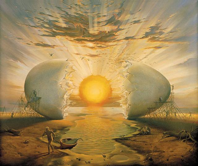 «Amanecer en el Océano», de Vladimir Kush, 2000.