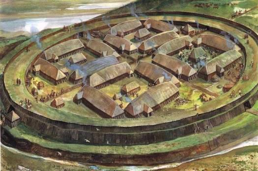 Visualización artística de una fortaleza de los vikingos. A las conocidas se suma una más: Borgring, descubierta en la isla de Selandia.