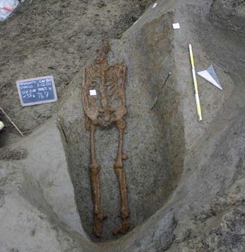 Este esqueleto hallado en 2007 muestra evidencias que podrían indicar una crucifixión, pero no pudo demostrarse hasta ahora.