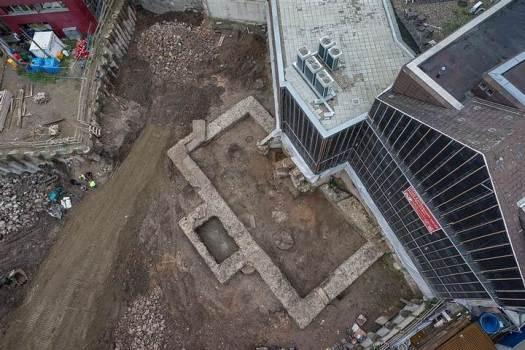 El anexo del edificio excavado en Colonia.