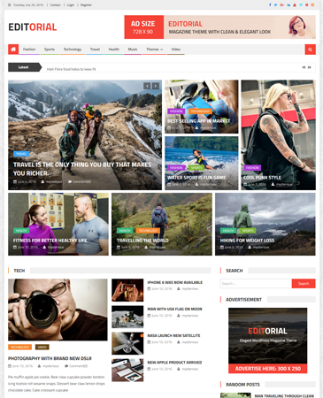 Free WordPress Magazine Theme 2016