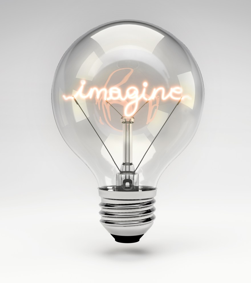 Conceptual Light Bulb (Set) - Imagine