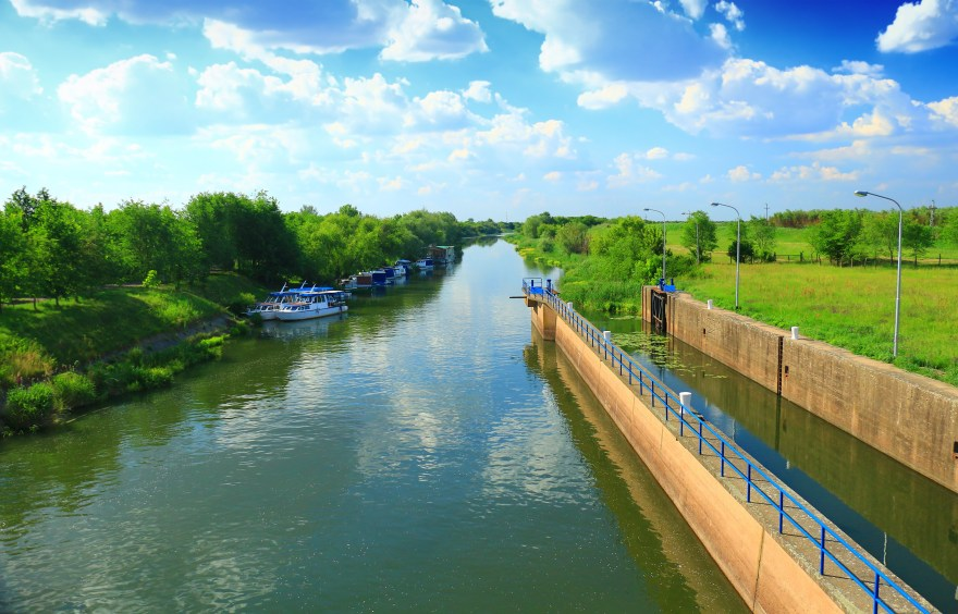 locks on the river