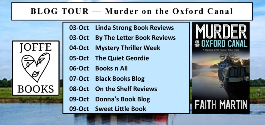 BLOG TOUR BANNER - Murder on the Oxford Canal