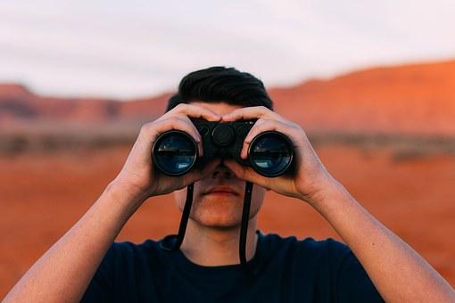 Search binoculars
